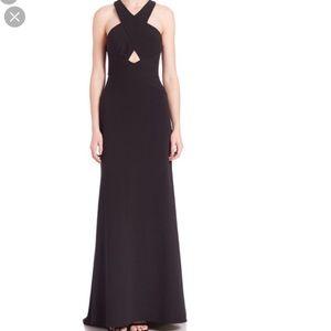 BCBG Black Salome Cutout gown